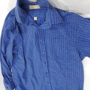 Michael Michael Kors blue striped shirt